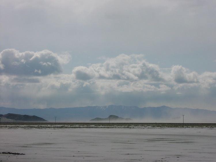 Salt storm The Great Salt Flats and the San Rafael Desert Looky