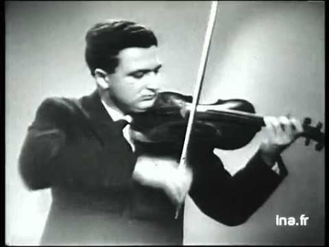 Salvatore Accardo Salvatore Accardo violin Archival footage 1960 Debussy Minstrels