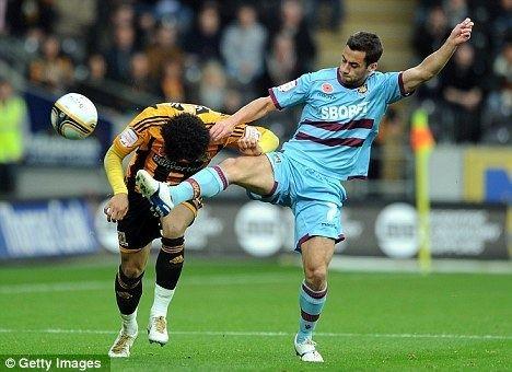 Sam Baldock Hull 0 West Ham 2 Sam Baldock and Jack Collison complete smash and