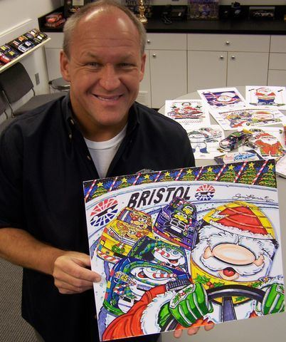 Sam Bass (artist) NASCAR Artist Sam Bass to visit BMS Dec 1617 to introduce