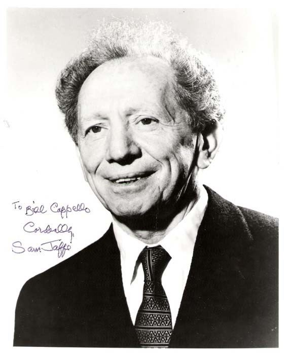 Sam Jaffe wwwBillCappellocom Bill39s Autographed Photo Archive