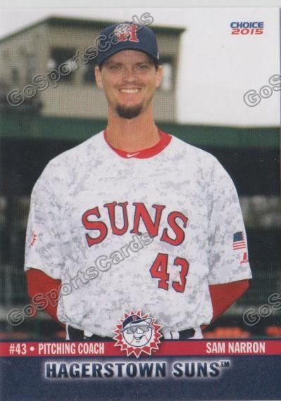Sam Narron (pitcher) 2015 Hagerstown Suns Sam Narron Go Sports Cards