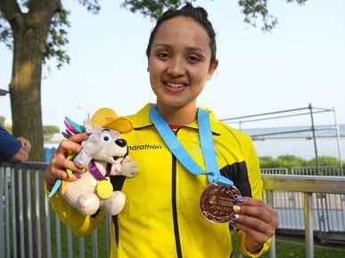Samantha Arevalo Samantha Arvalo conquista el bronce en Toronto 2015