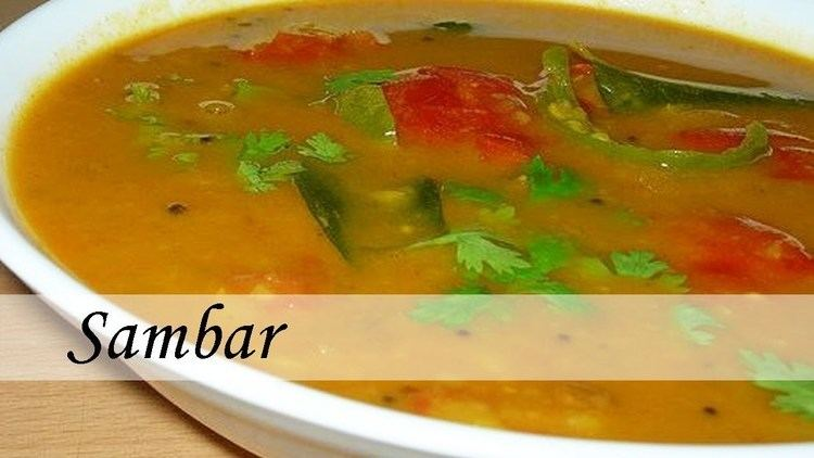 Sambar (dish) Traditional South Indian Dishes Sambar recipe YouTube
