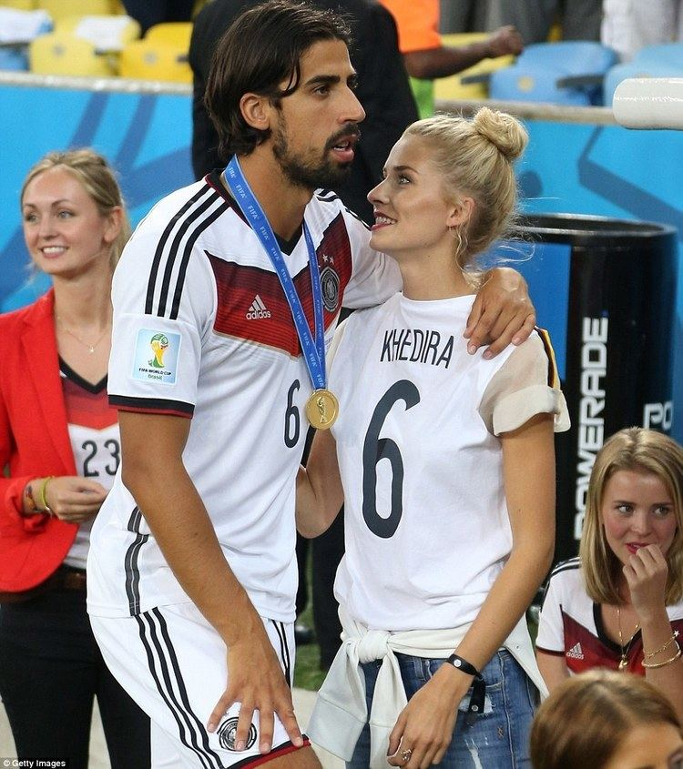 Sami Khedira Germanys WAGs celebrate in style Sami khedira Pitch and