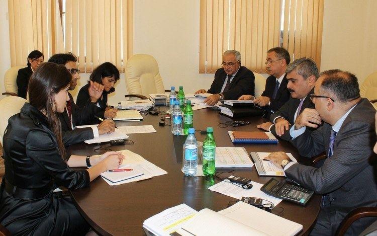 Samir Sharifov Minister of Finance Samir Sharifov received IMF mission head in