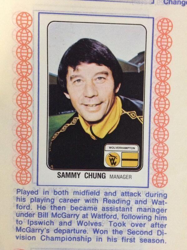 Sammy Chung Football Nostalgia on Twitter Sammy Chung Wolves manager 1979