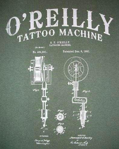 Samuel O'Reilly 122 years ago New York Tattoo Artist Samuel O39Reilly patented the