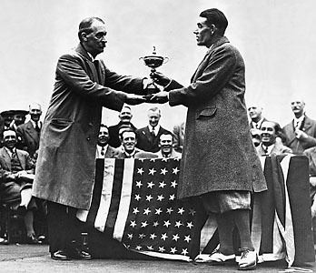 Samuel Ryder Ryder Cup George Duncan accepting the 1929 Ryder Cup from