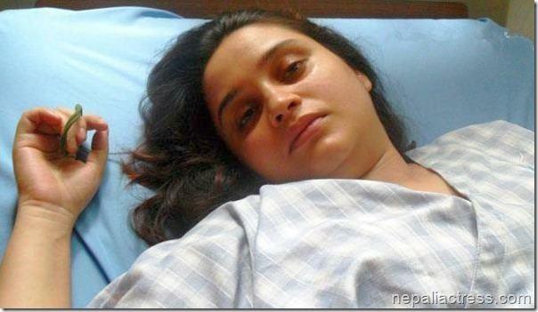 Sanchita Luitel Sanchita Luitel goes home a monthlong bed rest Nepali Actress