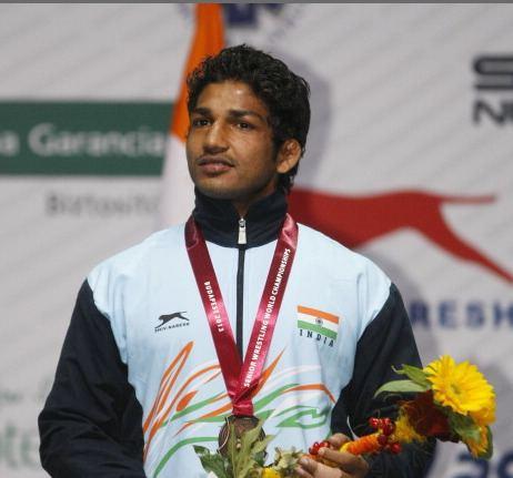 Sandeep Tulsi Yadav Sandeep Tulsi Yadav wins Indias maiden medal in Greco Roman style