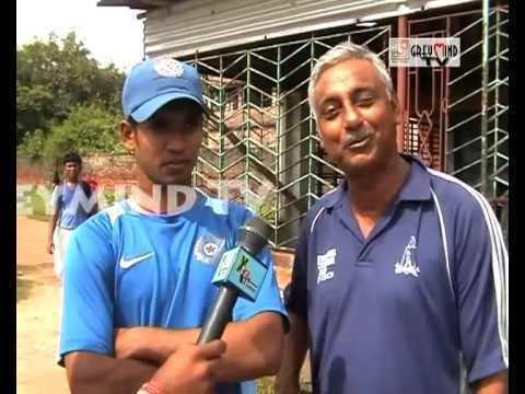 Sandipan Das ICC U19 WORLD CUP SANDIPAN DAS MEETS HIS CHILDHOOD COACH YouTube