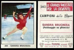 Sandra Brugnera FIGURINA CAMPIONI DELLO SPORT 196667 PANINI N283 SANDRA BRUGNERA