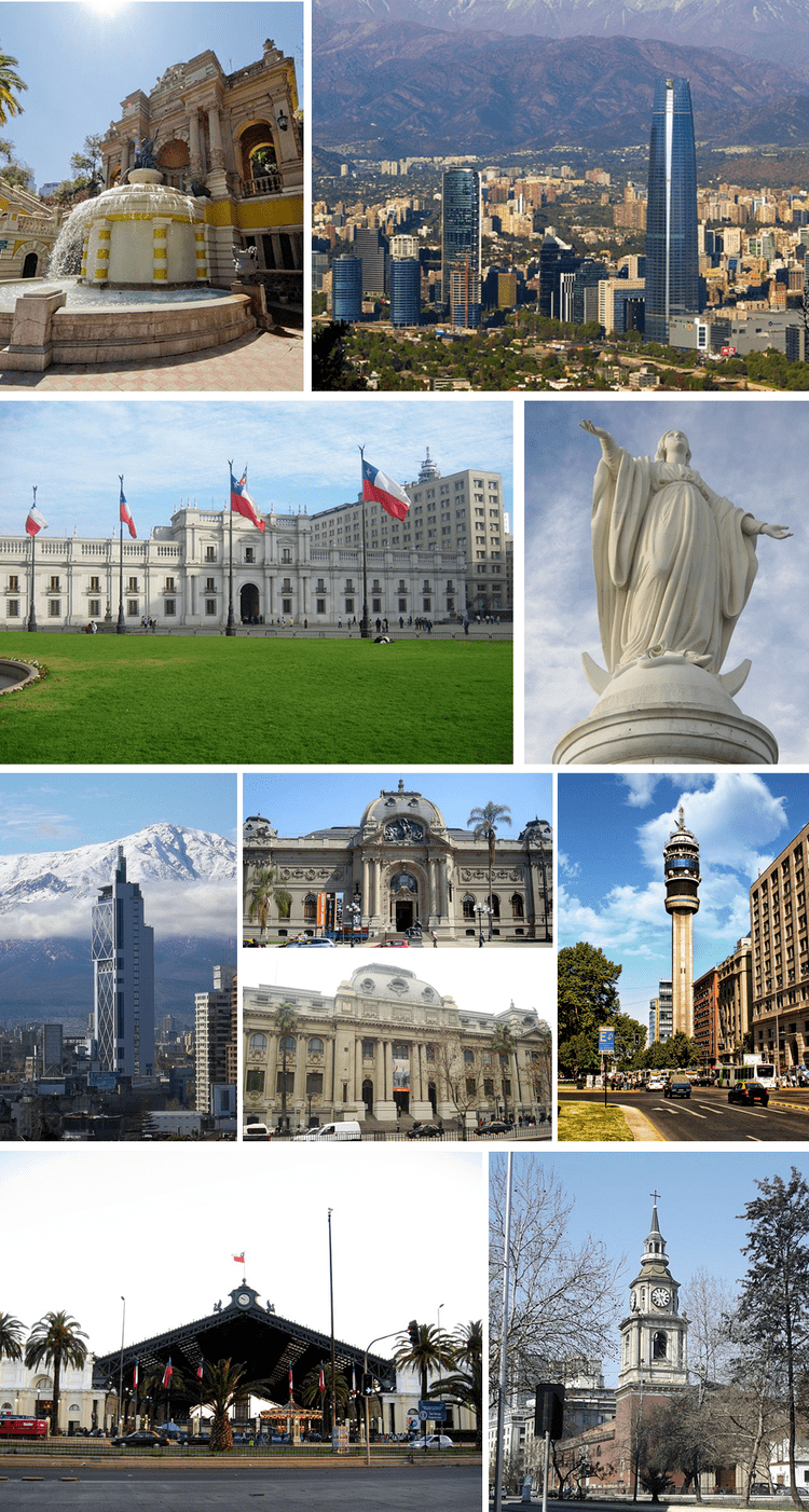 Santiago Metropolitan Region in the past, History of Santiago Metropolitan Region