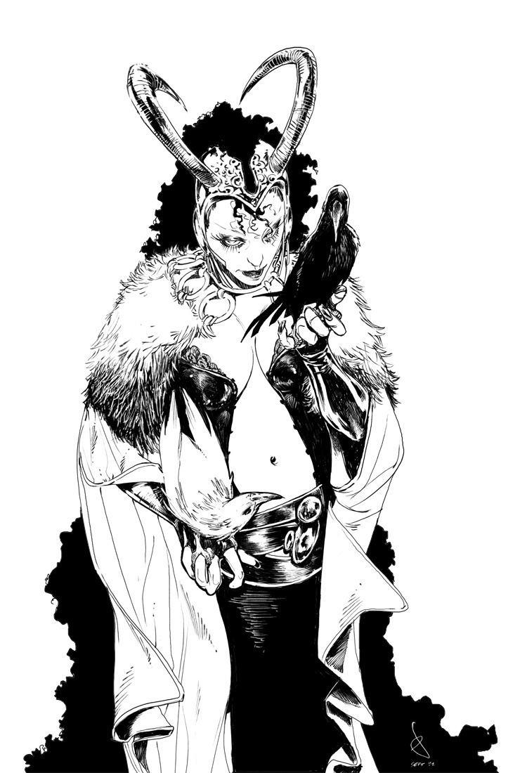 Sara Pichelli BENDIS 1 Lady Loki by Sara Pichelli on Tumblr 2