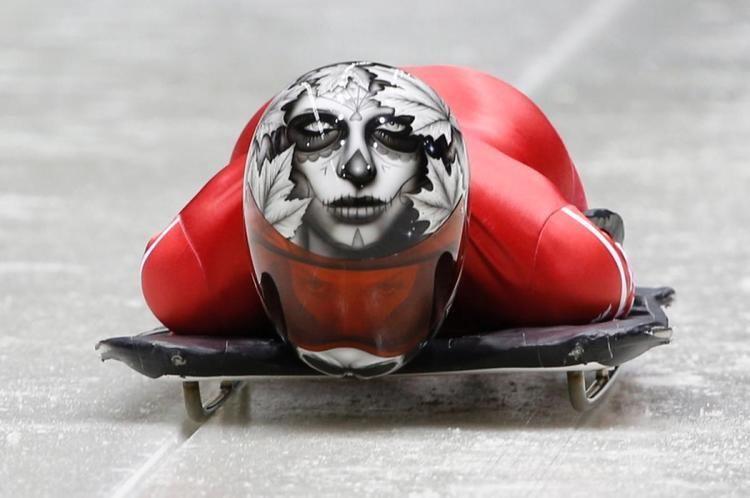 Sarah Reid (skeleton racer) Sarah Reid Canada Photos Best skeleton helmets of the