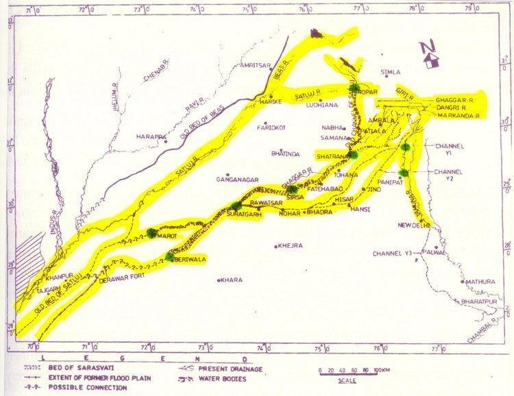 Sarasvati River River Sarasvati Flowed Proof LiteraryGeo Physical Satellite