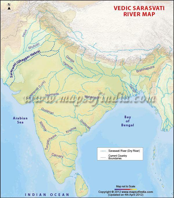 Sarasvati River Sarasvati River Map Vedic Saraswati River