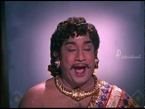Saraswati Sabatham Saraswathi Sabatham Savithri blesses Sivaji YouTube