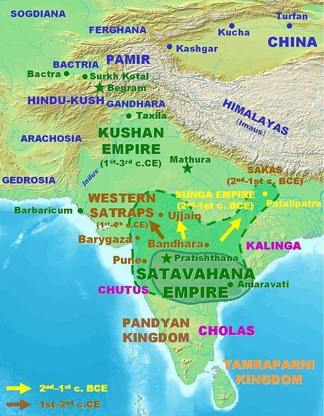 Satavahana dynasty THE SATAVAHANAS HISTORY AND GENERAL STUDIES