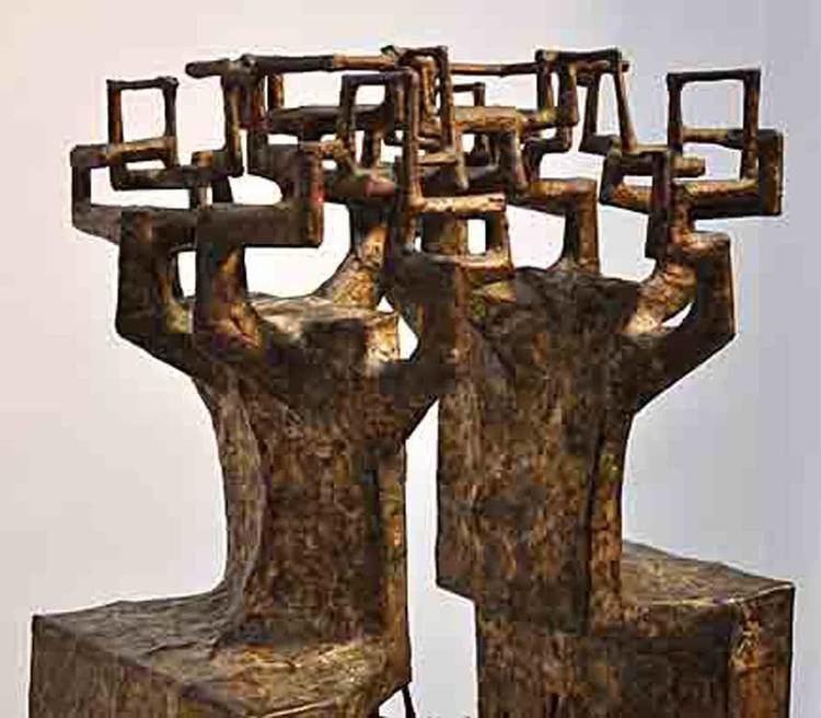 Satoru Abe Abe Satoru Signed Welded Sculpture at 1stdibs