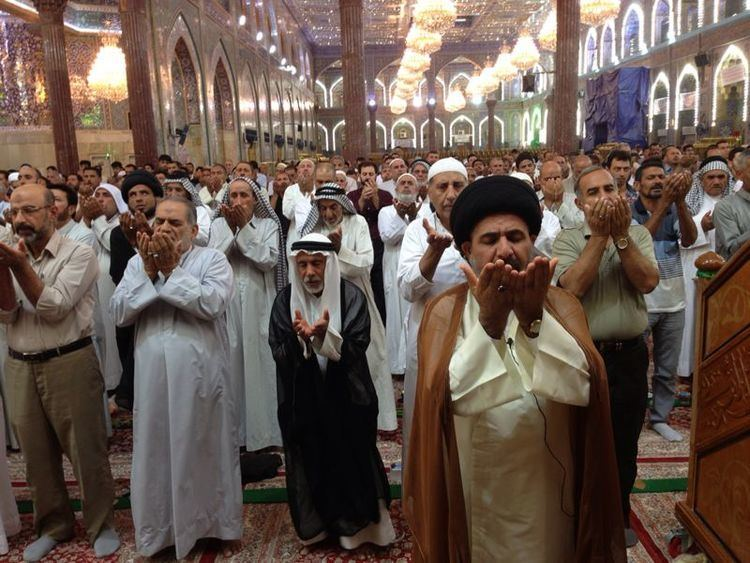 Sayed Moustafa Al-Qazwini Sayed Moustafa AlQazwini at the Imam Husayn as Shrine in Karbala