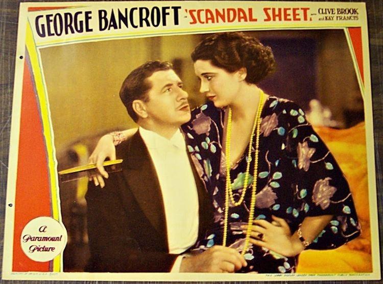 Scandal Sheet (1931 film) Scandal Sheet 1931 Kay Francis Life Career