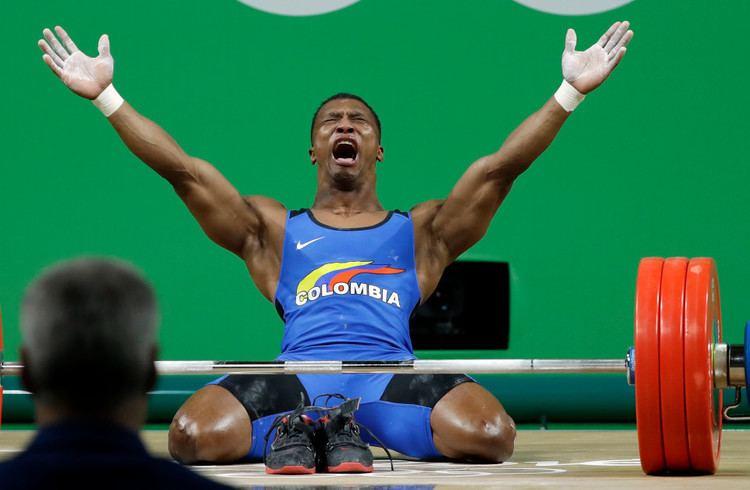 Óscar Figueroa (weightlifter) scar Figueroa of Colombia wins Gold in Men39s 62 kg Weightlifting