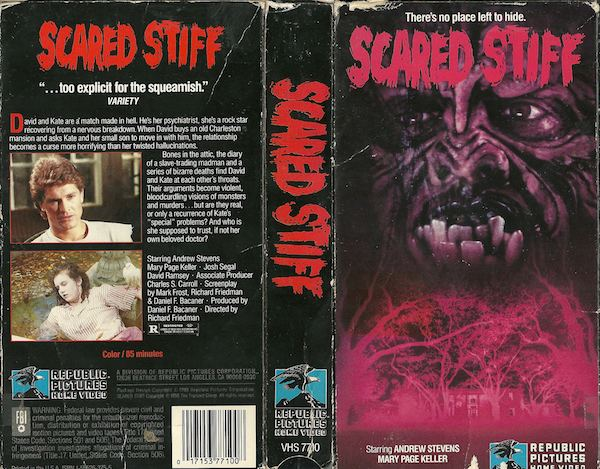 Scared Stiff (1987 film) Rental Regrets Scared Stiff 1987 DirtyHorrorCom