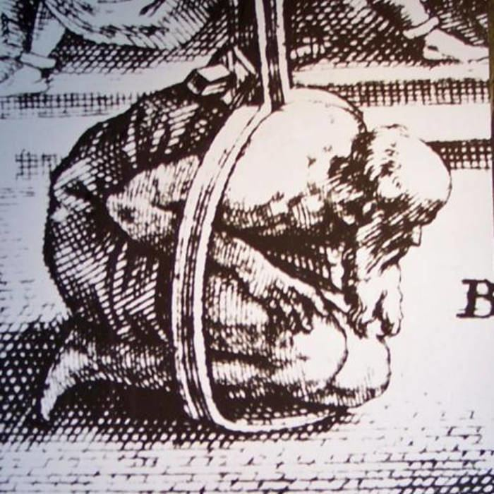 A medieval torture device called Scavenger's daughter with a man being tortured