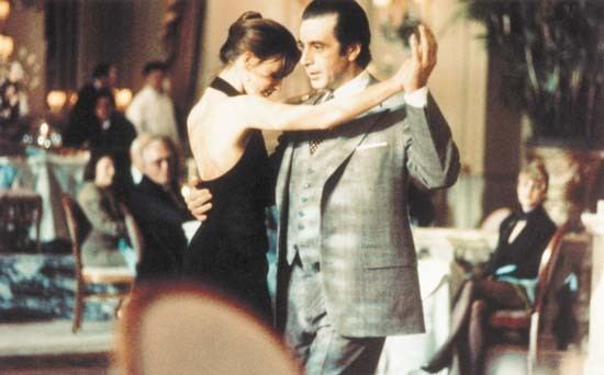 Scent of a Woman (1992 film) movie scenes Photograph Al Pacino dances with actress Gabrielle Anwar in the movie Scent of a Woman