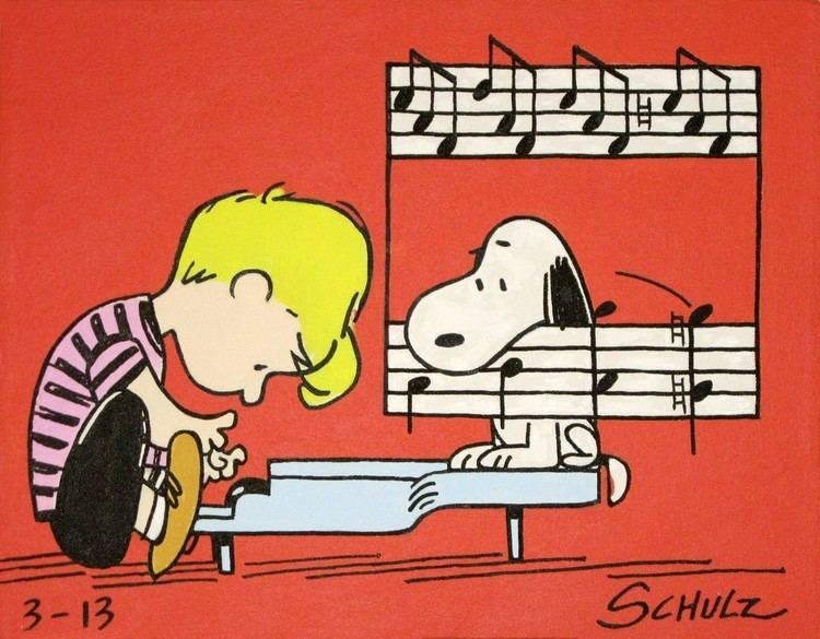 Schroeder (Peanuts) Schroeder amp snoopy peanuts comic painting from the 60s Music do