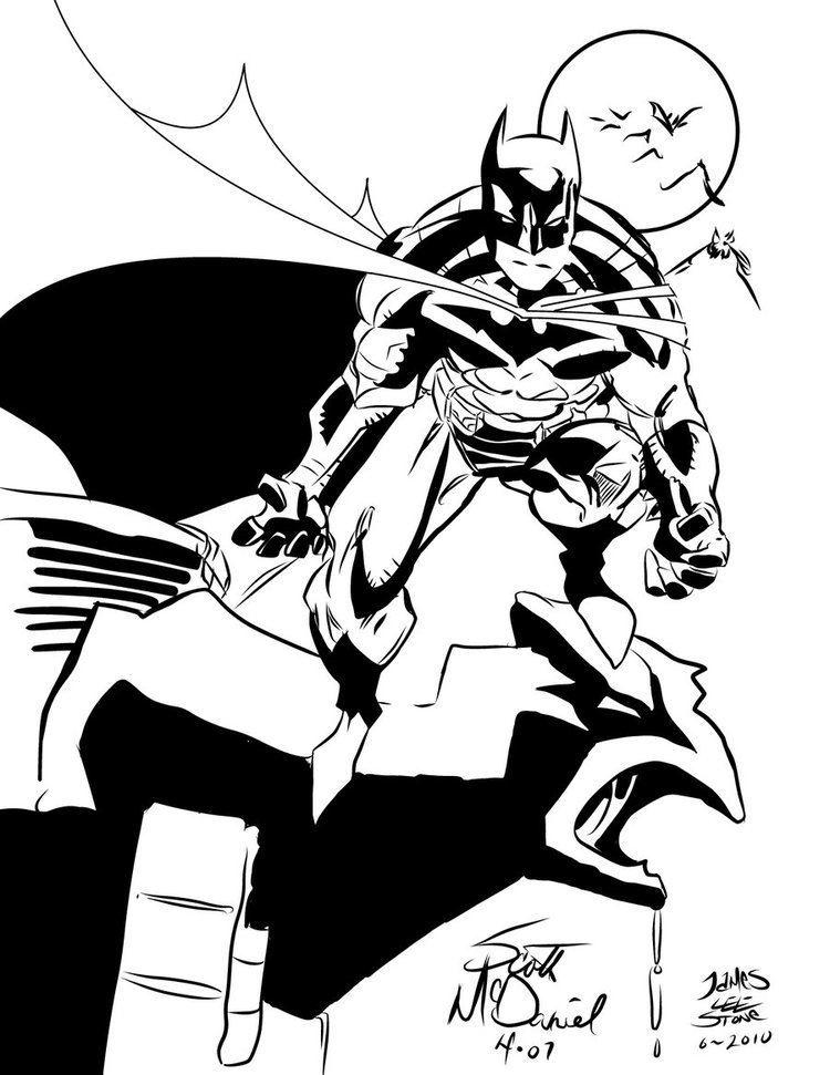 Scott McDaniel The Batman Scott McDaniel INKS by JamesLeeStone on DeviantArt
