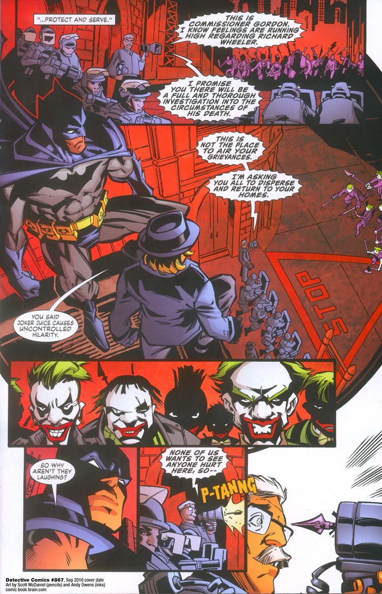 Scott McDaniel Scott McDaniel Batman page from Detective Comics 867