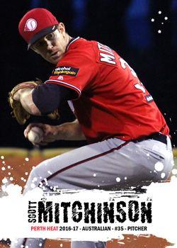 Scott Mitchinson Australian Custom Baseball Cards Scott Mitchinson 201617 Perth Heat