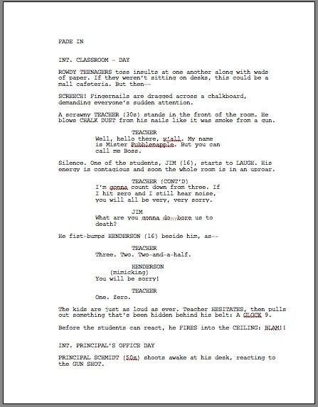 Screenplay How To Format A Screenplay Learning The Screenwriting Formula