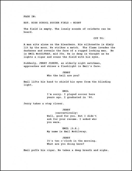 Screenplay Screenwriting Page Numbering a Screenplay Creative Genius 101