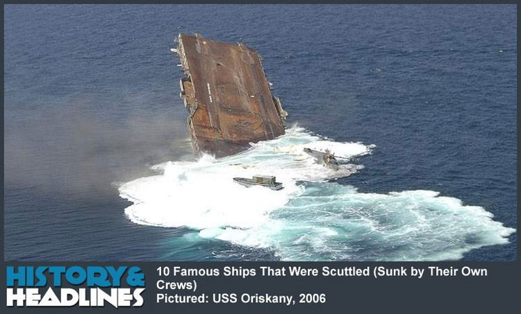 Scuttling 10 Famous Ships That Were Scuttled Sunk by Their Own Crews