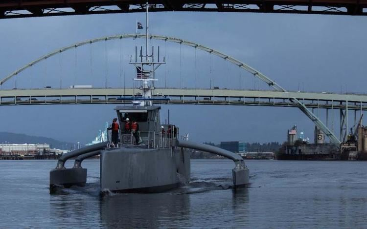 Sea Hunter DARPA Christens New Sea Robot Vessel Sea Hunter SIGNAL Magazine