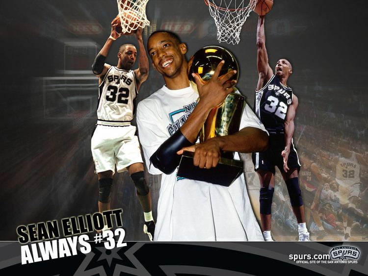Sean Elliott Here39s to you 32 THE OFFICIAL SITE OF THE SAN ANTONIO