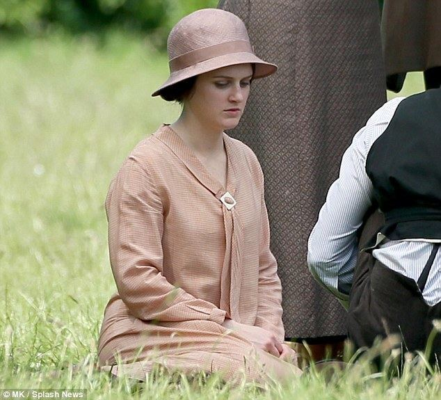 Seasons Beatings movie scenes Downcast at Downton Sophie McShera looked pensive on set in Bampton Oxfordshire as she