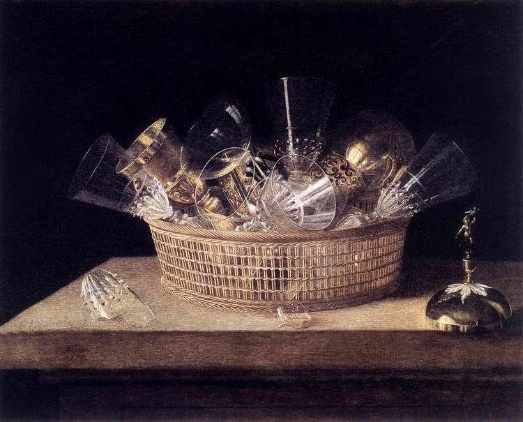 Sebastian Stoskopff StillLife of Glasses in a Basket by STOSKOPFF Sbastien
