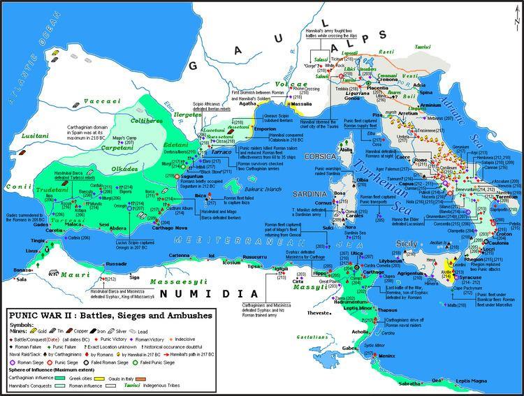 Second Punic War List of battles of the Second Punic War Wikipedia