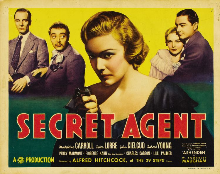 Secret Agent (1936 film) Secret Agent 1936 film Alchetron the free social encyclopedia