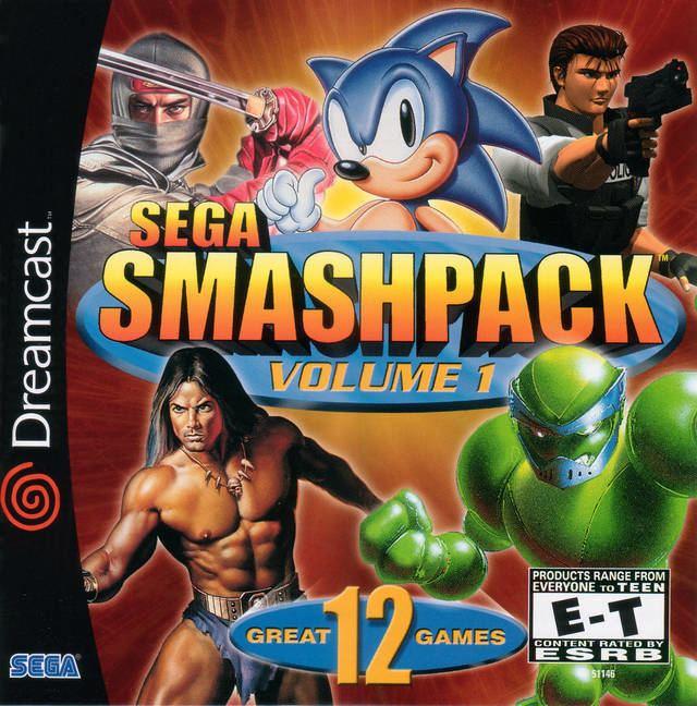 Sega Smash Pack Sega Smash Pack Volume 1 Box Shot for Dreamcast GameFAQs