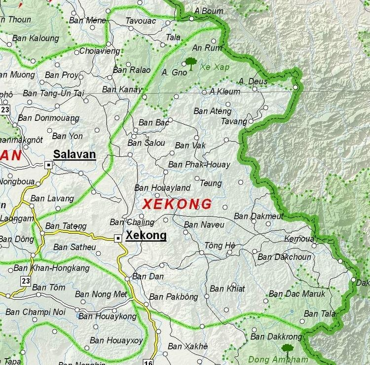 Sekong Province in the past, History of Sekong Province