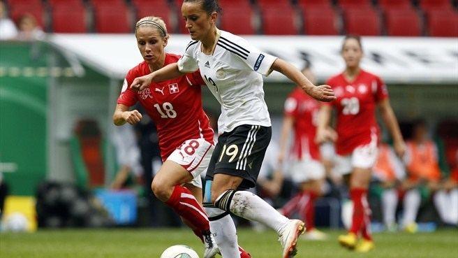 Selina Zumbühl Selina Zumbhl Switzerland Fatmire Bajramaj Germany UEFA