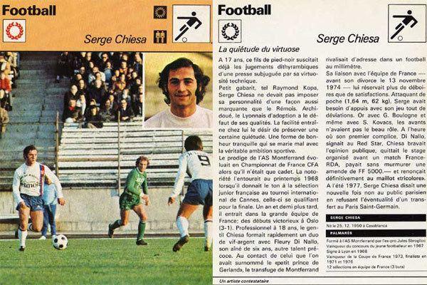 Serge Chiesa Foot Nostalgie Chiesa Serge