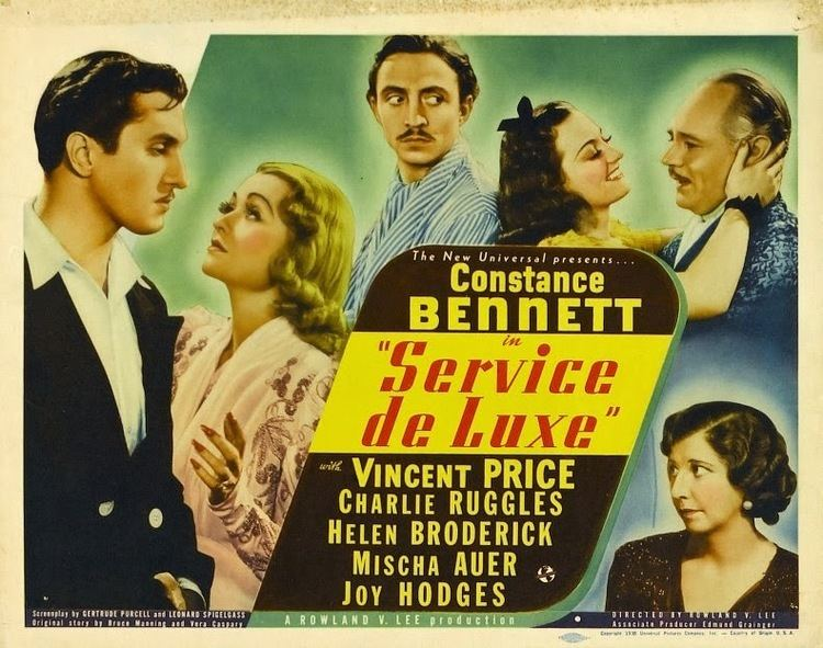 Service de Luxe Service de Luxe 1938 Vincent Prices bigscreen debut The