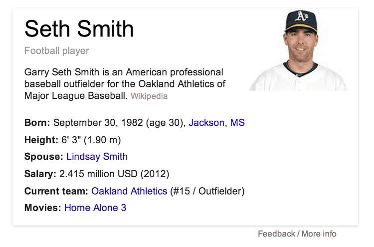 Seth Smith TIL Seth Smith was in Home Alone 3 baseball
